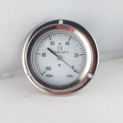 Vuotometro -100 mBar diametro dn 63mm flangia