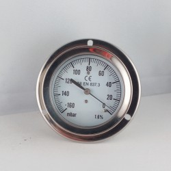 Vacuum gauge -160 mBar diameter dn 63mm back