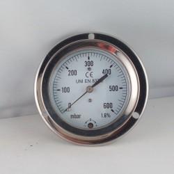Pressure gauge 600 mBar diameter dn 63mm back