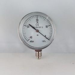 Vuotometro -40 mBar diametro dn 63mm radiale verticale