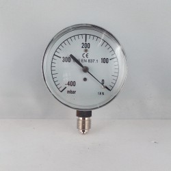 Capsule pressure gauge -400 mBar diameter dn 63mm bottom