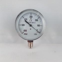 Capsule pressure gauge -600 mBar diameter dn 63mm bottom