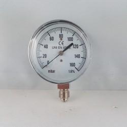 Capsule pressure gauge 160 mBar diameter dn 63mm bottom