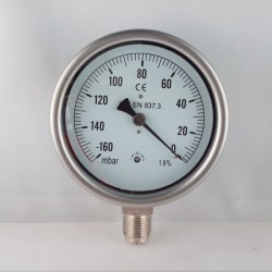 Capsule vaccum gauge -160 mBar diameter dn 100mm bottom