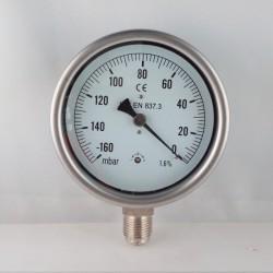 Vuotometro -160mBar diametro dn 100mm radiale