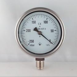 Vuotometro -250 mBar diametro dn 100mm radiale