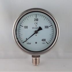 Manometro 400 mBar diametro dn 100mm radiale