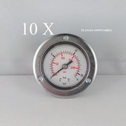 "10 pz Manometri Flangia 16 Bar diametro dn 63mm posteriore 1/4""Gas"