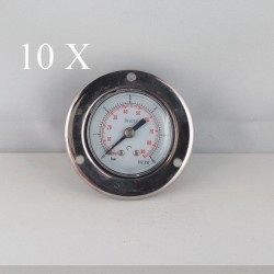 "10 pcs Dry pressure gauges flanged 6 Bar diameter dn 40mm 1/8""Bspp connection"