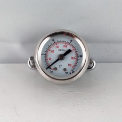 Dry pressure gauge 25 Bar diameter dn 40mm u-clamp