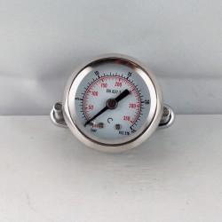 Manometro 25 Bar diametro dn 40mm con staffa