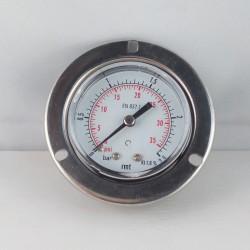 Manometro 2,5 Bar diametro dn 50mm con flangia