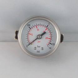 Dry pressure gauge 1,6 Bar diameter dn 50mm u-clamp