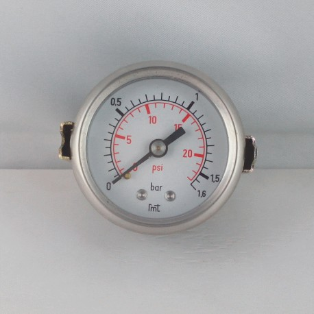 Dry pressure gauge 1,6 Bar diameter dn 50mm u-clamp