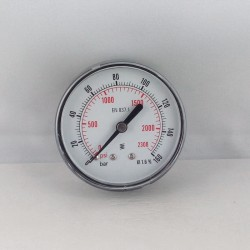 Dry pressure gauge 160 Bar diameter dn 63mm back