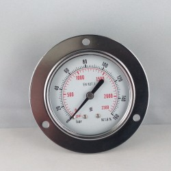 Dry pressure gauge 160 Bar diameter dn 63mm front flange