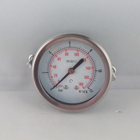 Dry pressure gauge 12 Bar diameter dn 63mm u-clamp