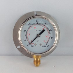 1,6 Bar glycerine filled pressure gauge 63 wall flange dn 63mm