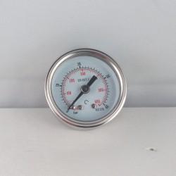 Glycerine filled pressure gauge 40 Bar diameter dn 40mm back