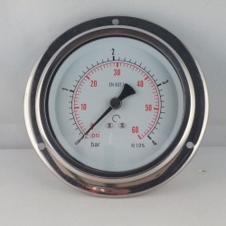 Glycerine filled pressure 4Bar gauge diameter dn 100mm flange