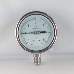 Manovuotometro Inox -1/5 Bar diametro dn 100mm radiale