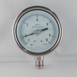 Manovuotometro Inox -1/9 Bar diametro dn 100mm radiale