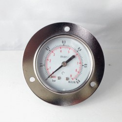 Dry pressure gauge 0,6 Bar diameter dn 63mm front flange