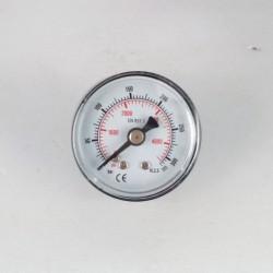 Manometro 315 Bar diametro dn 40mm posteriore