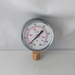 Manometro 315 Bar diametro dn 50mm verticale