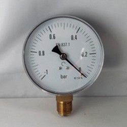 Dry vacuum gauge -1 Bar diameter dn 100mm bottom