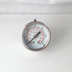 Glycerine filled pressure gauge 60 Bar diameter dn 40mm back