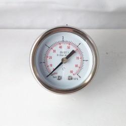 Manometro Inox 6 Bar diametro dn 50mm posteriore