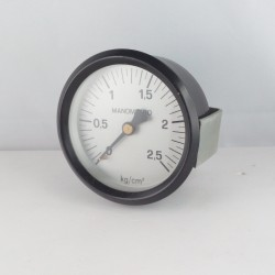 """Manometro 2,5 KG/CM2 diametro dn 80mm 1/4"""" Gas posteriore"""