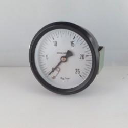 """Manometro 25 KG/CM2 diametro dn 80mm 1/4"""" Gas posteriore"""