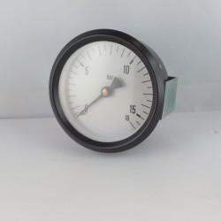 """Manometro 16 KG/CM2 diametro dn 80mm 1/4"""" Gas posteriore"""