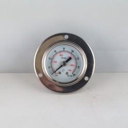 Glycerine filled pressure gauge 160 Bar flange diameter dn 40mm