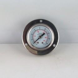 Glycerine filled pressure gauge 16 Bar flange diameter dn 40mm