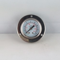 Stainless steel pressure gauge 16 Bar diameter dn 40mm flange