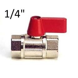 """Mini brass ball valve 1/4"""" BSP FF"""