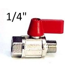 "Mini brass ball valve 1/4"" BSP FF"