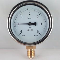 Manovuotometro glicerina -1+5 Bar diametro dn 100mm radiale