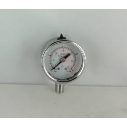 Stainless steel pressure gauge 4 Bar diameter dn 40mm bottom