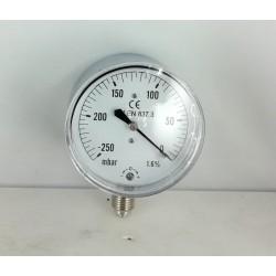 Capsule pressure gauge -250 mBar diameter dn 63mm bottom