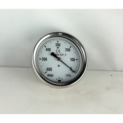 Vacuum gauge -600 mBar diameter dn 63mm back
