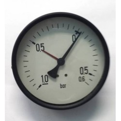 "Dry vacuum gauge -1+0,6 Bar diameter dn 100mm back 1/4""Bsp"