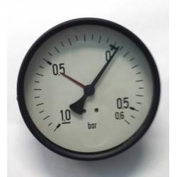 "Manovuotometro -1+0,6 Bar diametro dn 100mm posteriore 1/2""Gas"