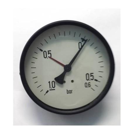"Dry vacuum gauge -1+0,6 Bar diameter dn 100mm back 1/2""Bsp"