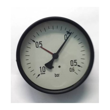 "Dry vacuum gauge -1+0,6 Bar diameter dn 100mm back 1/2""Bsp"