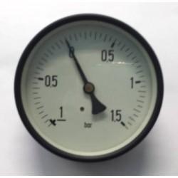 "Dry vacuum gauge -1+1,5 Bar diameter dn 100mm back 1/2""Bsp"