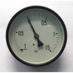 "Manovuotometro -1+1,5 Bar diametro dn 100mm posteriore 1/2""Gas"